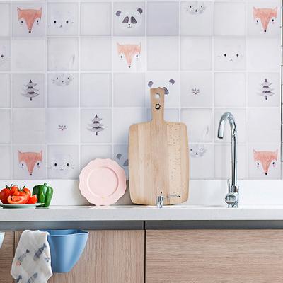 大号厨房防油贴纸耐高温家用防水油烟机自粘灶台帖卡通墙贴瓷砖贴