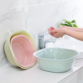 方形加厚塑料盆脸盆大号家用洗菜盆洗衣盆婴儿洗脚盆小盆子洗脸盆