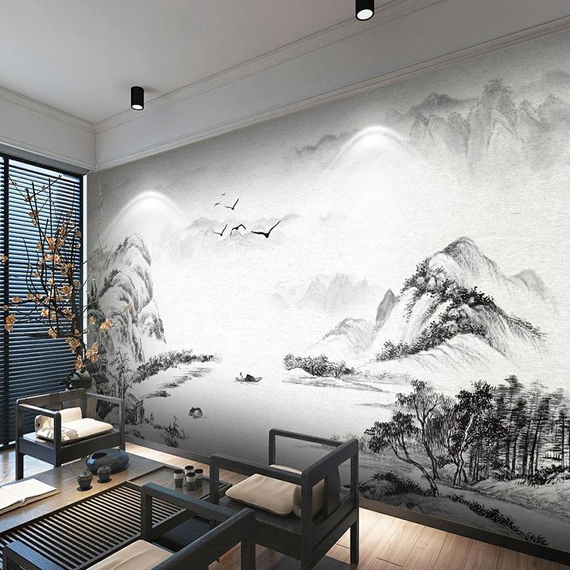现代中式水墨墙纸