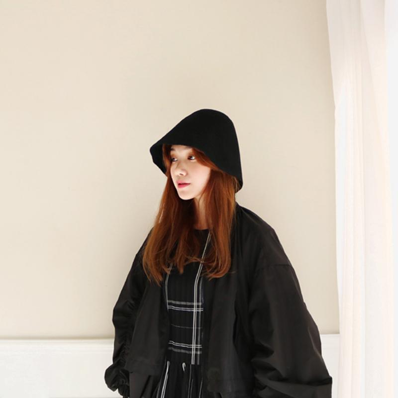 纯羊毛纯色毡帽