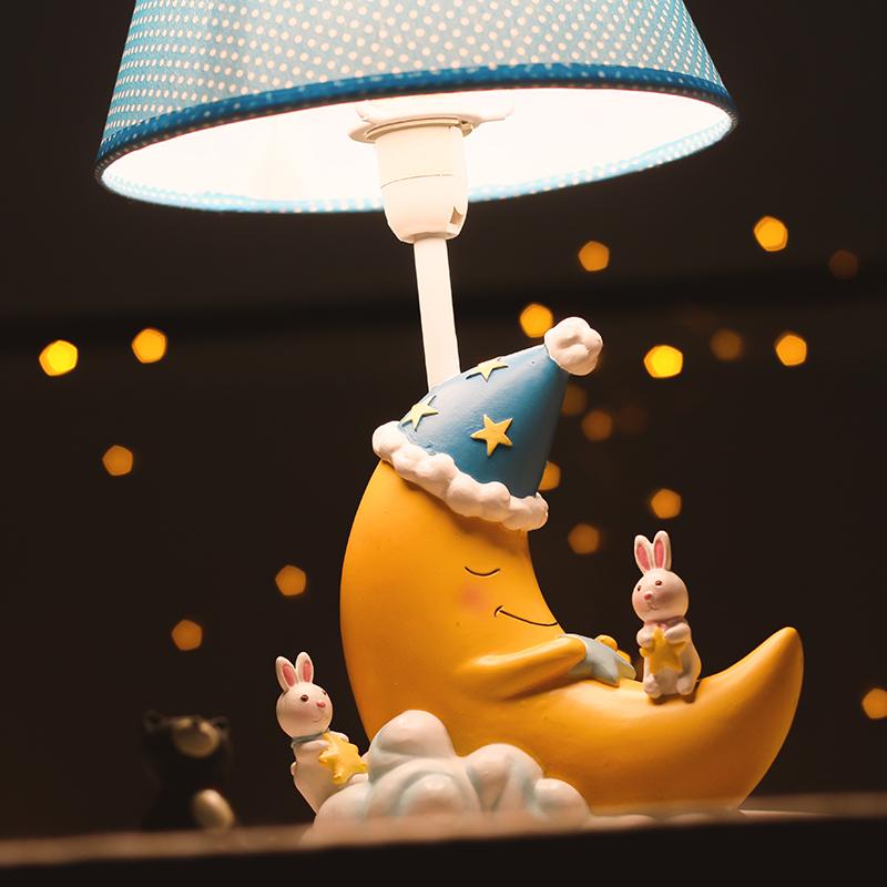 创意暖光儿童台灯卧室喂奶小夜灯卡通月亮床头灯送学生孩子礼物3元优惠券