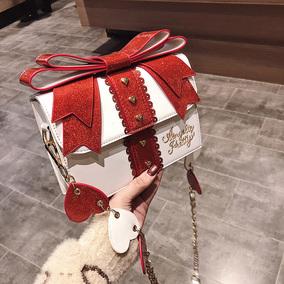 可爱小包包萌少女2018新款日系洛丽塔lolita爱心蝴蝶结斜跨单肩包