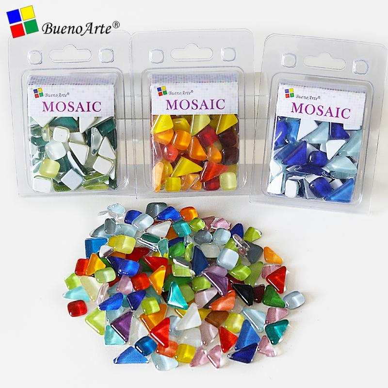 DIY创意手工装饰材料马赛克拼贴散粒水晶自由石玻璃碎片画彩色贴