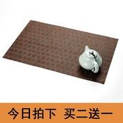茶盘垫纤维茶席茶垫过滤茶渣竹垫茶铺隔热垫竹席隔热茶台垫子包邮