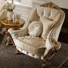 意大利奢华休闲椅金箔洽谈椅沙发椅贵妃椅欧式宫廷皇室椅子法式椅