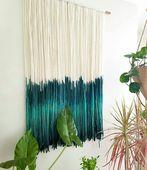 地中海 北欧 手工波西米亚编织民宿装 饰挂毯 文艺风 染色挂毯软装