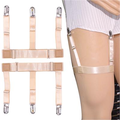 欧美男女通用肤色衬衫夹吊袜带夹子款弹力袜子吊袜夹一件代发包邮