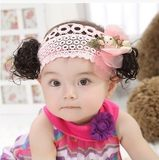 1-2 years old girl wig with baby headpiece child Liu Haifa decorated Korean version of the little girl photo jewelry