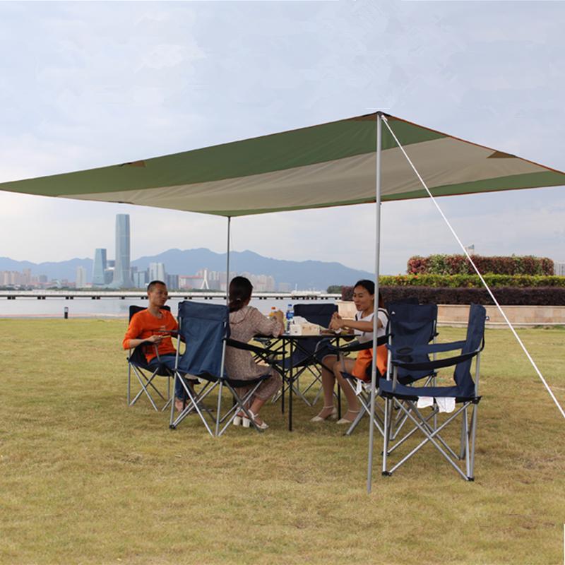 天幕帐篷户外超大牛津布多人遮阳篷露营多用途凉棚雨棚便携车边篷