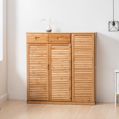 楠竹鞋架子实木鞋柜简易多层经济型简约现代客厅多功能家用门厅柜