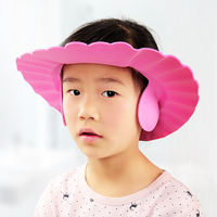Bathing hat child ear protection waterproof child silicone thickening shampoo artifact baby shampoo cap shower cap adjustable
