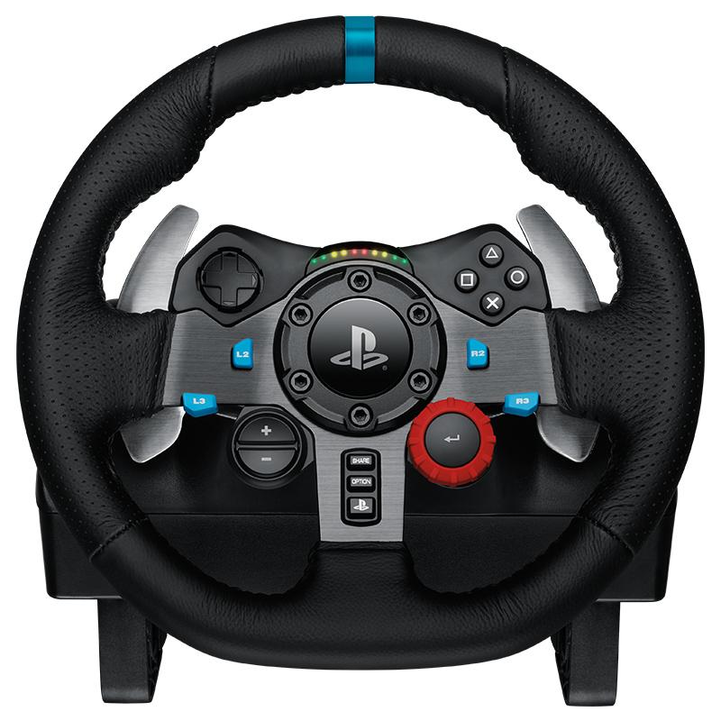 罗技G29 方向盘赛车游戏PC/PS4仿真双马达反馈G27盘子升级版