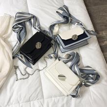 小方包单肩链条斜挎法国小众包包丝巾洋气高级感 女包2019新款 时尚图片