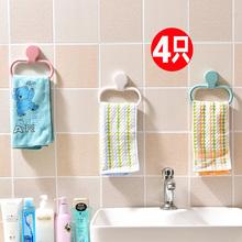 厕所挂毛巾架创意免打孔墙上壁挂卫生间厨房抹布架手巾架单杆