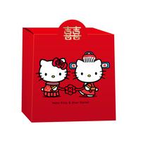Hellokitty结婚礼品包装盒定制创意喜糖盒中式抖音同款回礼袋批發
