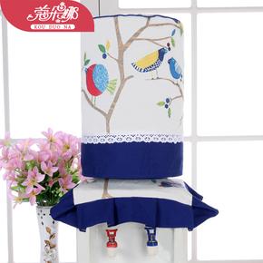 蔻朵娜蓝鸟饮水机套饮水机罩两件套水桶防尘罩子韩版田园简约现代