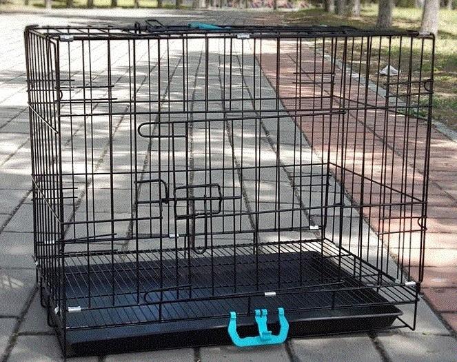 加粗折叠狗笼子l-大型中型小型犬马犬金毛泰迪宠物笼中号