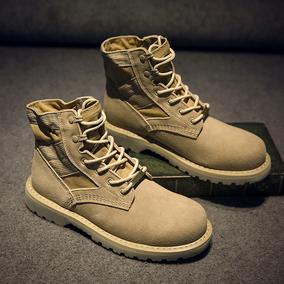 秋冬马丁靴男真皮女靴工装鞋军靴韩版短靴情侣沙漠靴男高帮鞋户外