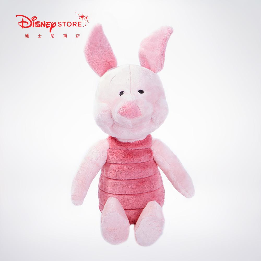 迪士尼商店 小熊维尼小猪皮杰毛绒可爱卡通玩具玩偶公仔中号