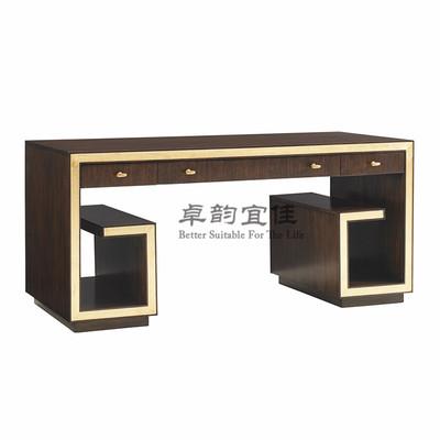 简约轻奢现代实木电脑桌办公室书桌办公写字台双人电脑台专业定制品牌排行榜