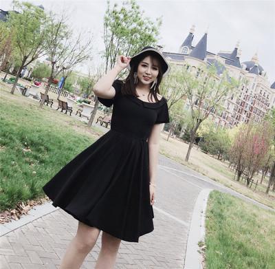 夏装新款加大码显瘦甜美系减龄胖mm雪纺连衣裙女夏飘逸大摆仙女裙
