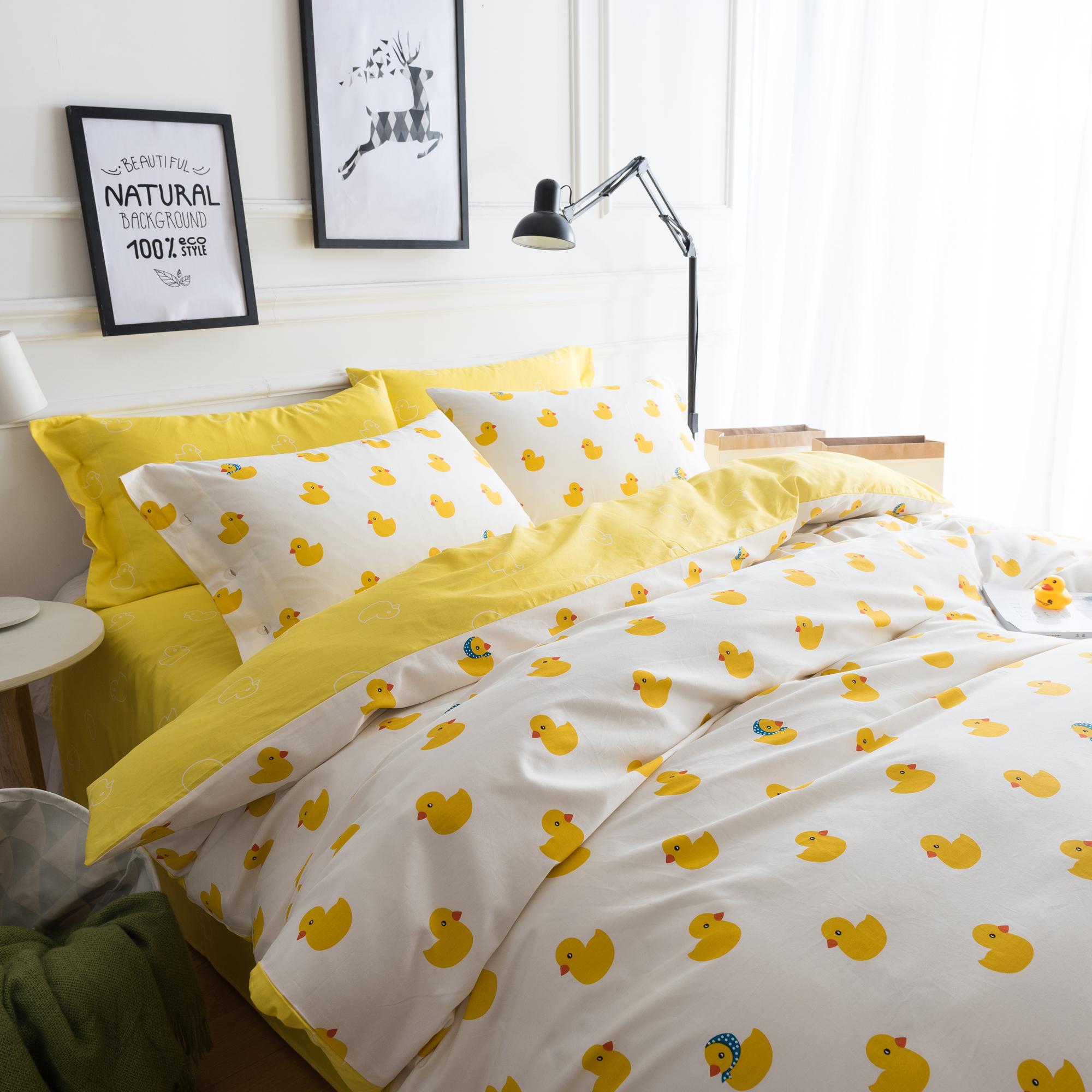 小黄鸭床上四件套