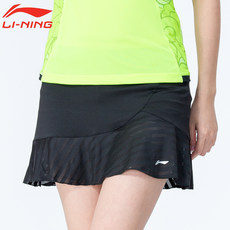 Li Ning Sports Skirts and Pants Women's Summer Running Anti-Walking Light Speed Dry Badminton Short Skirt Competition Tennis Skirt Half-length Skirt