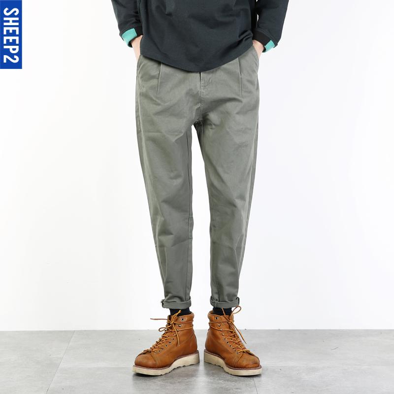 锥形工装裤男长裤