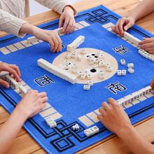 迷你麻将牌家用手搓大号四川麻将学生带桌布中号便携式扑克纸牌小