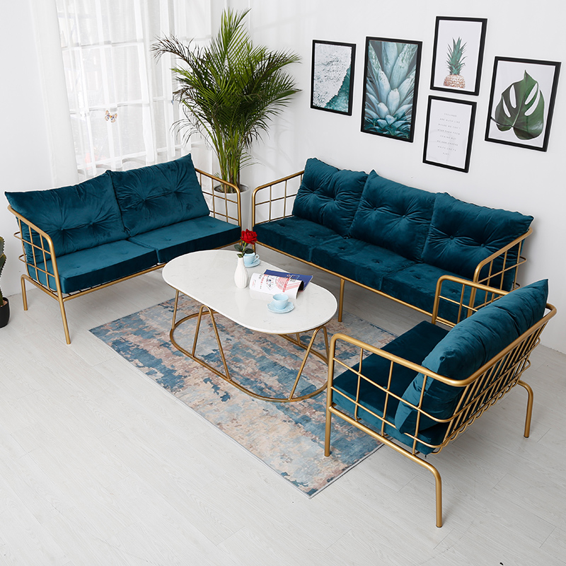 北欧现代简约布艺沙发小户型客厅整装沙发组合阳台懒人单人沙发椅
