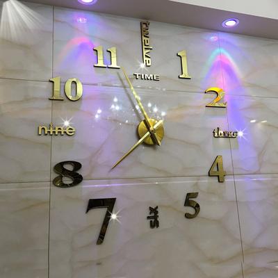 欧式墙贴现代简约挂钟 客厅时尚艺术静音挂表DIY个性时钟创意钟表