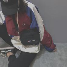 学生原宿学院风百搭斜挎网红小黑包帆布ins包包女 潮韩版 2018新款