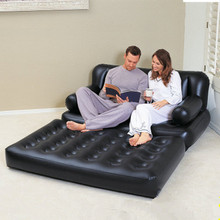 Multi-purpose lazy air floor chair sofa bed inflatable flock