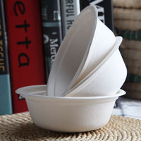 Disposable bowls of 10 paper bowls Environmentally friendly pulp bowls High quality wild tableware Tableware dishes Outdoor barbecue tools