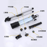 Professional HD children's astronomical telescope pupils deep space star view sky high times space 10000 glasses times