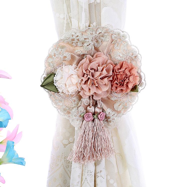 窗帘绑带欧式花