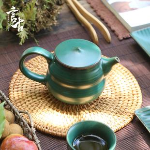 茶壶陶瓷单壶日式家用大号侧把壶手工西施壶提梁壶功夫过滤泡茶壶