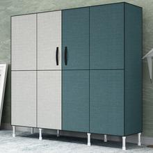 衣橱收纳柜子 简易衣柜钢管加粗加固布衣柜布艺简约现代经济型组装