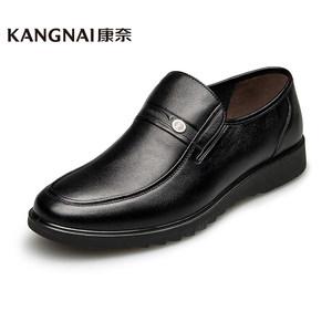 康奈男鞋 秋款头层牛皮商务休闲男鞋1152773低帮鞋套脚休闲皮鞋男