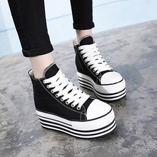 European Station Summer 2019 Thick-soled Muffin Single Shoe Korean Edition Heightened Women's Shoes 10cm Waterproof Table High-Up Leisure Shoes