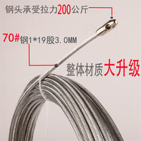 Threading electrician artifact wire pipe dark line pipe threader wire cable wire string line wire puller