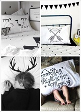 Clear! INS Explosive Nordic Simple Black-and-White Pillowcase