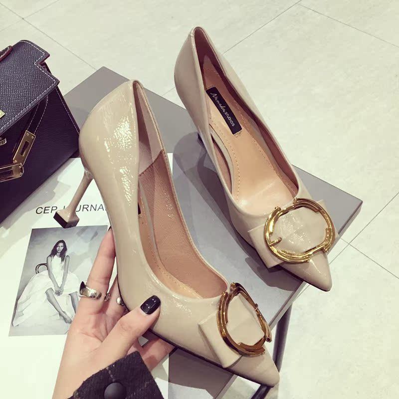 洋气单鞋尖头高跟鞋