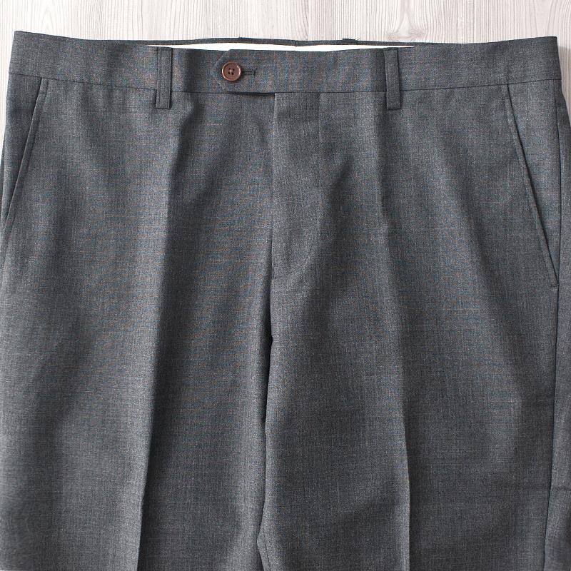 意大利进口高支面料羊毛春秋款质感修身男式男装西装裤子上班