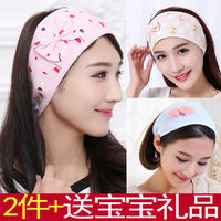 Confinement headscarf summer thin section cotton maternity hat postpartum headscarf summer maternal tied headband month hair band