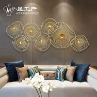 卧室墙上金属壁饰铁艺客厅墙面装饰品酒店餐厅墙壁挂件家居创意软