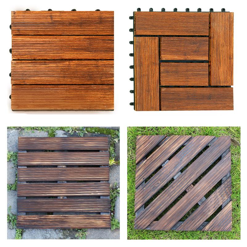 户外防腐实木地板室外阳台露台庭院DIY拼接地板组合防水防滑地板