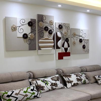 沙发背景墙装饰画客厅现代艺术壁画餐厅无框画卧室挂画立体浮雕画旗舰店网址