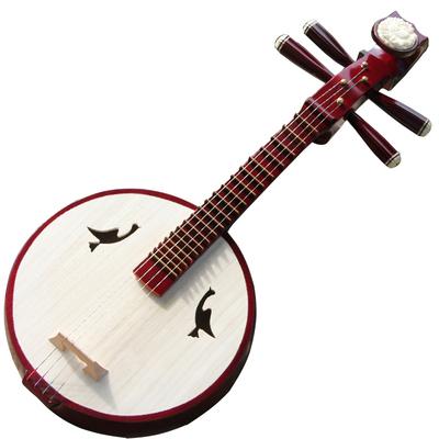 梵巢牌初学演奏练习骨花成人儿童小阮色木材手工制作弹拨民族乐器