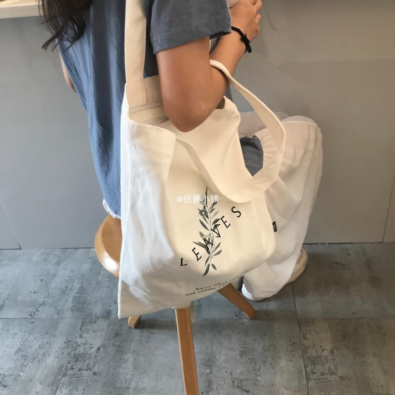 2019新款ins单肩帆布包慵懒风布袋包 日系学生帆布袋包包女斜挎